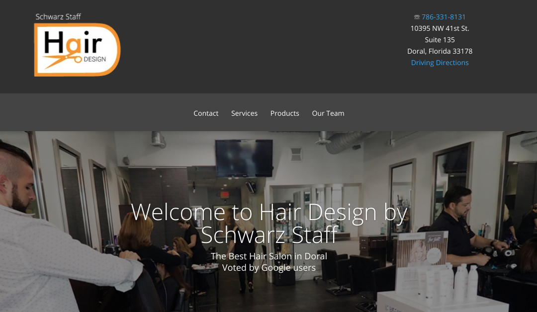 Hair Salon Doral WordPress Site