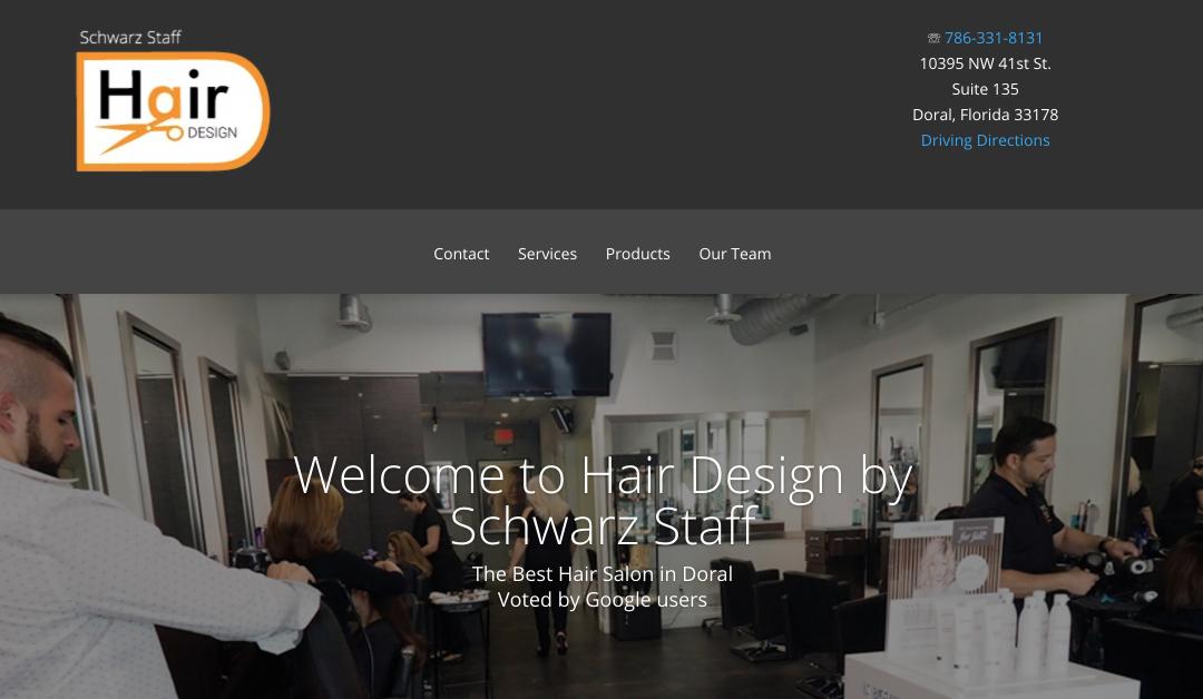 Hair Salon Doral WordPress Site